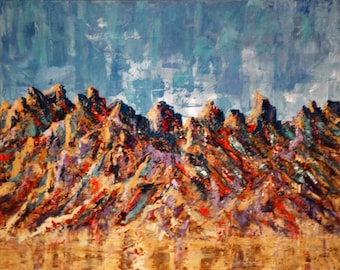 McDowell Mountains Oil Painting