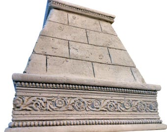 """Cast Stone Kitchen Vent Hood/Range Hood 30"""" w x 30"""" h (fits 8-foot ceiling) Kitchen Exhaust FLORENCE"""