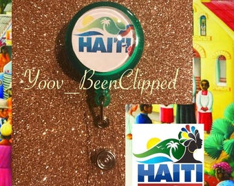 Haiti Retractable Badge Reel