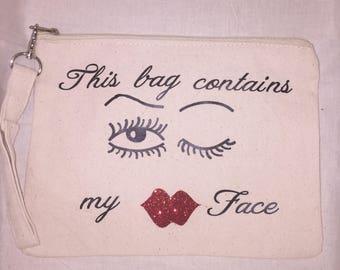 Makeup bag wristlet