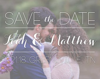 Faded Save the Date