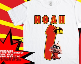 The Incredibles Iron On Transfer, Boy The Incredibles , Boy Birthday Shirt , The Incredibles Birthday Shirt DIY , Digital Files