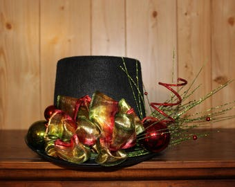 Christmas Centerpiece - Felt Top Hat
