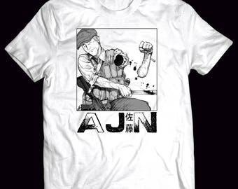 Ajin Demi-Human Anime Sato T-Shirt Comes in Black and White S-3XL