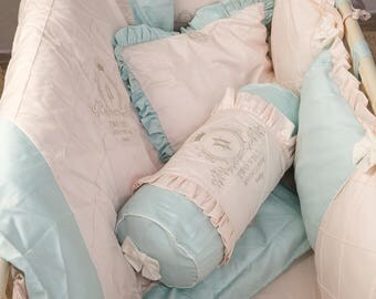 Set of bed linens for the Angel of the newborn