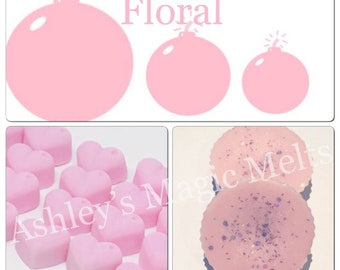 3 flowerbomb perfume soy wax melts, perfume dupes, designer melts, scented soy wax cubes, wax melt tarts, strong wax melts, best wax
