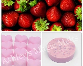 3 Strawberry wax melts, scented soy wax melts, fruity wax melts, cheap wax melts, strong wax melts, wax cubes, wax tart melts