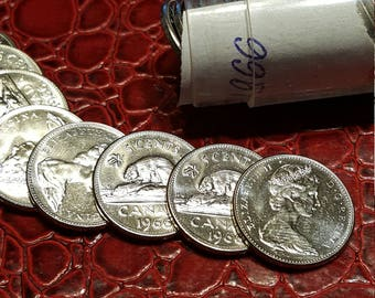 1966  Nickel Five Cents *****  Uncirculated From Roll
