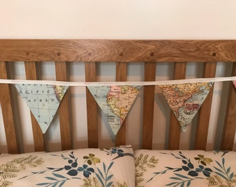 World map bunting