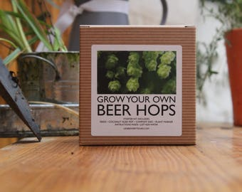 NEW LISTING - Grow your own beer plant, watch your hops grow from seeds into a beer plant! FREE glass included.