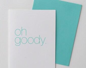 Engagement Card - Congratulations Card - Happy Card - Friendship Card - Celebration Card  - Thank You Card - Minimal Design - Oh Goody Card