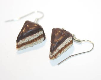 Earrings - Chocolate cake share