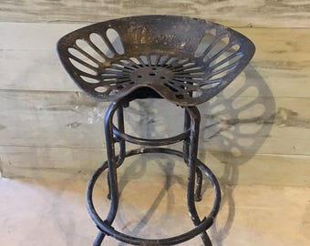 cast iron industrial tractor seat, swivel top stool seating bar stool