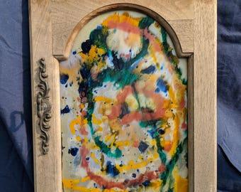 pained clock door