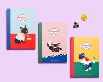 MungMung diary 2018 / note / line note / scheduler / calender / 2018 diary / planner / illustration / weekly planner