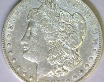 1896-O Morgan Dollar; AU