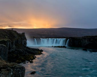 Iceland Waterfall (Godafoss)