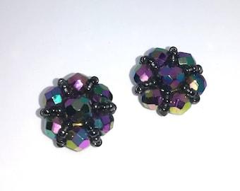 Vintage clip on earrings.  Vintage jewellery.