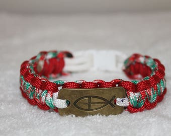 ICHTHYS (Christian Fish) Paracord Bracelet