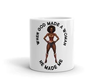 Afro Superhero Mug