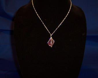 Purple Fluorite in Sterling Silver