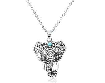 Ganesha Necklace, Elephant Jewelry, Silver Tone Ganesh Necklace, Ganesh Pendant, Ganesha Jewelry, Women Gift, Lord Ganesha Idol, Yoga