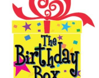 the surprise birthday box!!