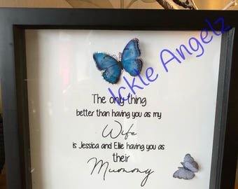 Mothers day frame/gift for her/personalised frame for mum/birthday gift for mum