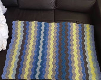 Crochet Ripple Lap Blanket - Custom made