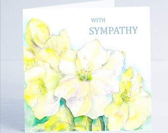 With Sympathy Flower Bereavement Card
