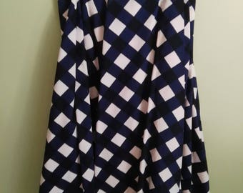 Skirt wrap style,Blue and White,