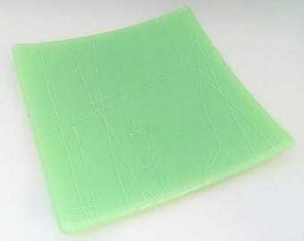 Mint Green Streaky Platter