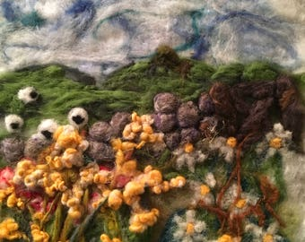 felted countryside picture