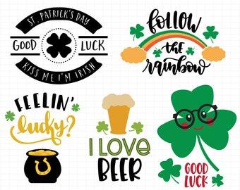 St. Patrick's Day SVG, Bundle Clover svg, Shamrock svg, St Pattys Irish svg, Instant download