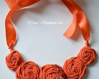 Necklace from textile