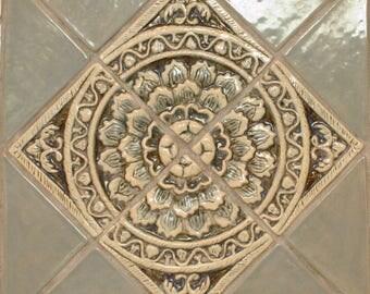 Lotus Design Creamic Relief Tile