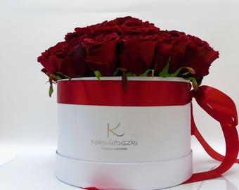 Flower box Nakwiatuszki with roses
