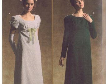 Simplicity 4055 Sewing Pattern Circa 1795-1825 Dress in Womens Size HH Misses 6-12