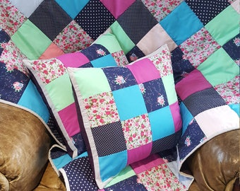 Gorgeous lap quilt/throw and cushion set