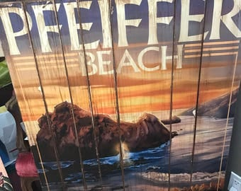 Pfeiffer Beach Distressed Poster