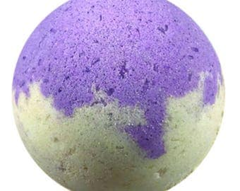 Large Relaxing Lavender Champaign Bath Bomb 5 oz.