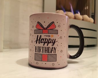 Happy Birthday Magic Colour Changing Mug