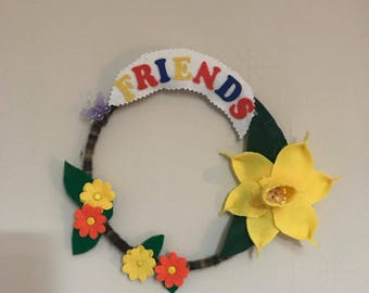Friends flower wreath
