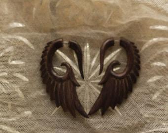 Bali Handmade Wood Faux-Gauge Wings