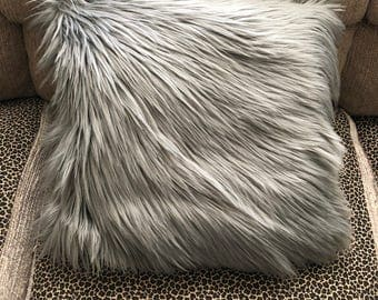 Faux fur decor Pillow Blanket-Psychedelic