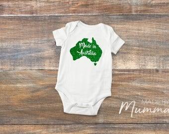 Australia Day, Made in Australia, Children's T-Shirt, Infant T-Shirt, Baby Onesie, Bodysuit