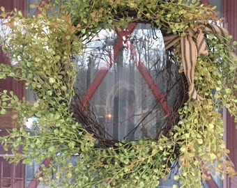 Pepper grass wreath