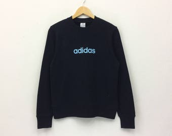 Rare!! Adidas Big Logo Print Sweatshirt Pullover Jumper