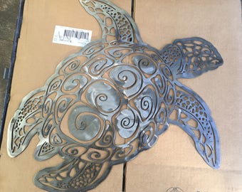 Sea turtle natical sea life wall art