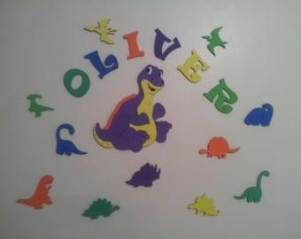 Dinosaur wall decoration